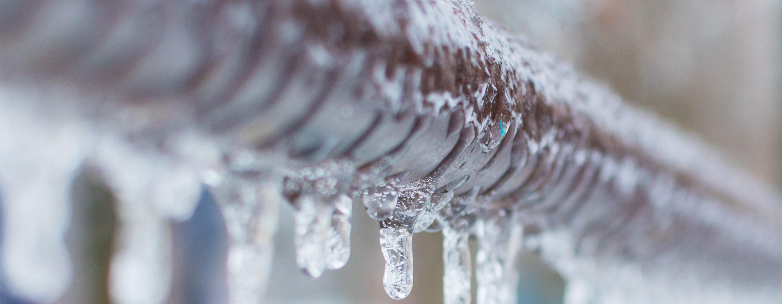 Winterisation frozen pipes
