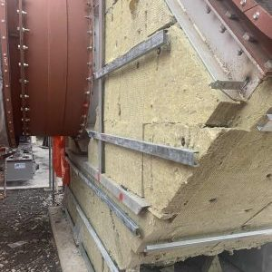 Thermal insulation cladding support