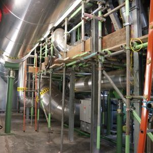 Industrial insulation, scaffolding access