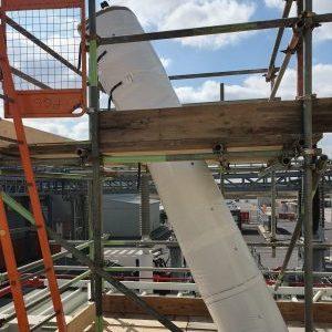 Flexible insulation cover, scaffold access