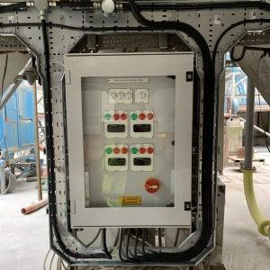 Trace heating system control box