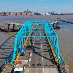 Industrial coatings surface preparation steel work bridge