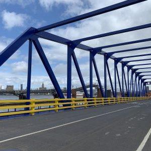 Industrial marine coatings steel work bridge