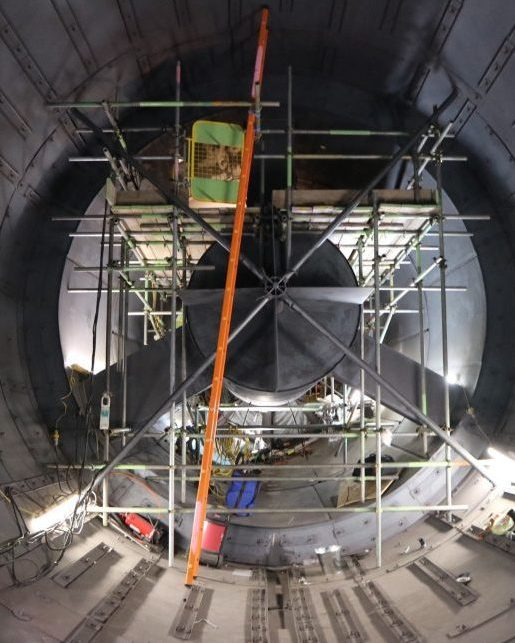 Industrial scaffolding turbine hall