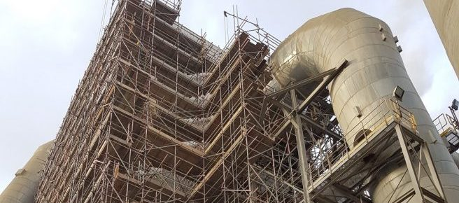 Industrial scaffolding access tower