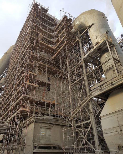 Industrial scaffolding access structure