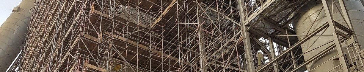 Industrial scaffolding structure