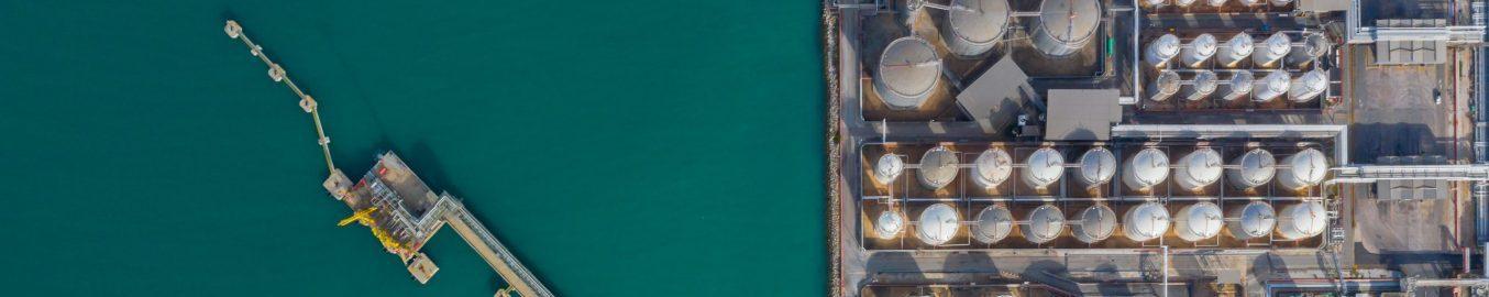 Bulk storage tank terminal LNG