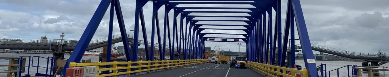 Steel bridge industrial coating