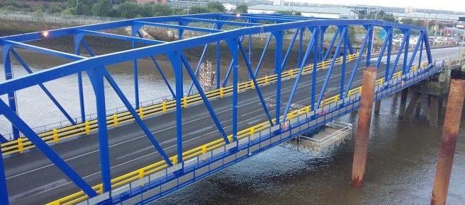 Industrial coatings steel bridge