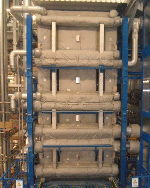 Flexible insulation covers boiler door