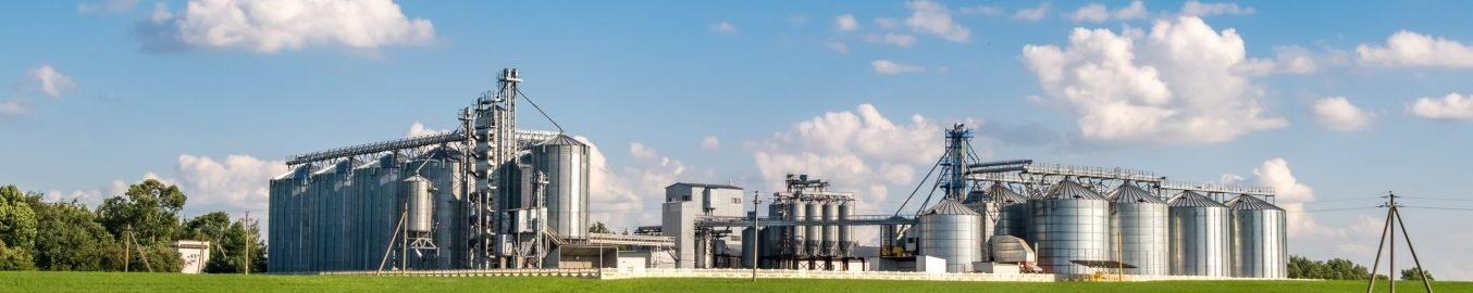 Food processing plant silos