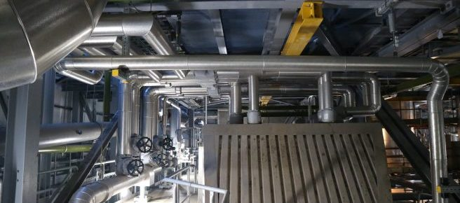 Thermal insulation industrial boiler piping