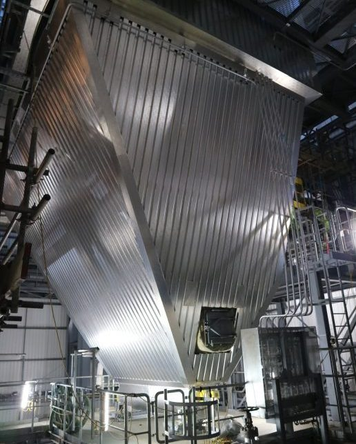 Thermal insulation industrial hopper