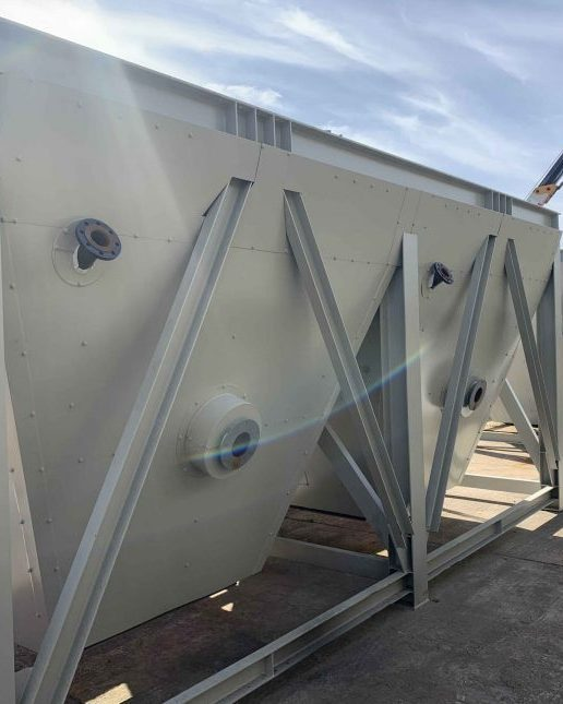 Thermal industrial insulation hoppers