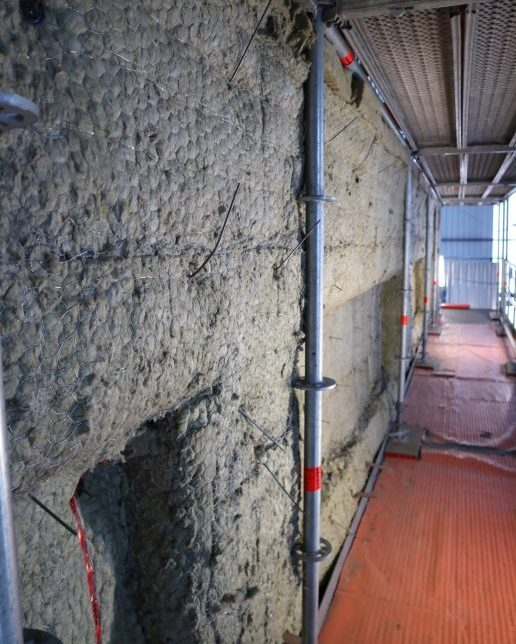Thermal insulation mineral wool boiler wall