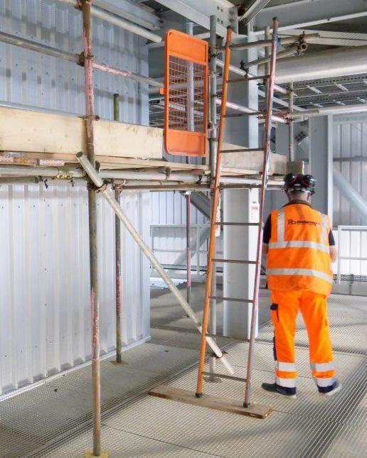 Site operative scaffolding inspection