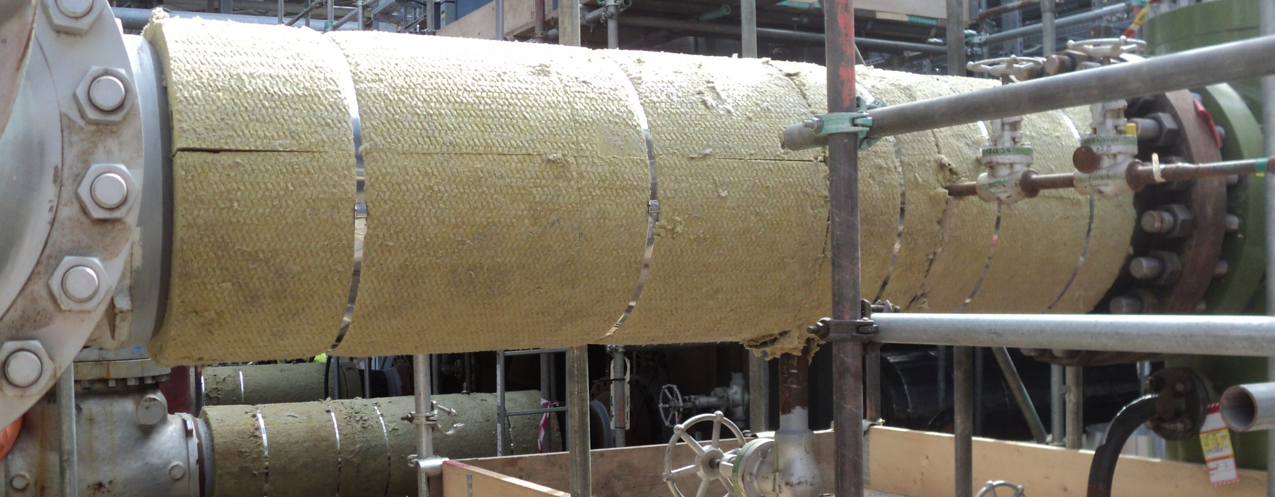 Thermal insulation piping ducting